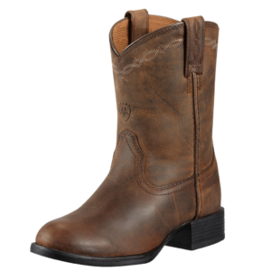 Kids ariat heritage roper distressed brown