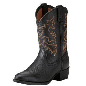 Ariat kids western boots in black
