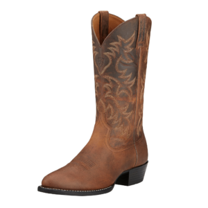 Ariat mens heritage western disstressed brown western book