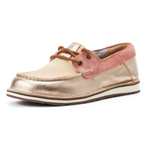 Ariat womens Castaway Cruisers in a rose gold blush colour