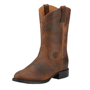 Ariat Womens Distressed Brown C FIt Heritage Roper Riding Boots