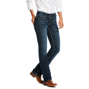 Womens ariat Jeans Straight Leg, 3D pocket detail