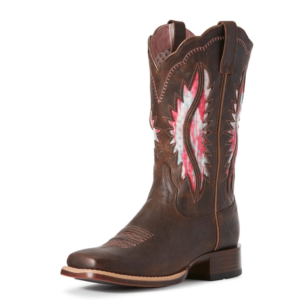 Ariat Womens Solana Venttek Wide square toe boots in French toast colour