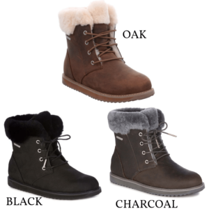 Emu Shoeline waterproof leather boot sheepskin lined