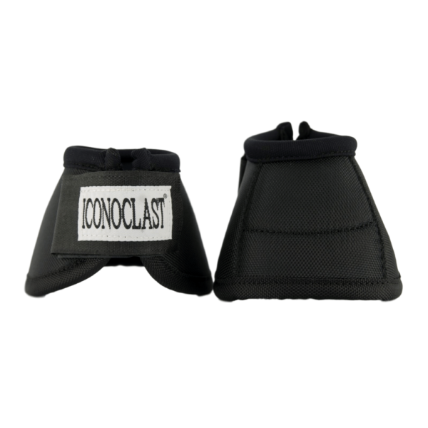Iconoclast Horse Bell Boots, Black with No Turn feature