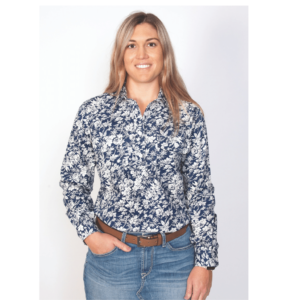 Just Country Half Button Long Sleeve Womens Printed Shirt