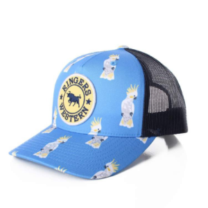 Ringers Western Cockatoo Trucker style cap blue