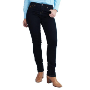Ringers western womens straight leg mid rise dark blue jeans