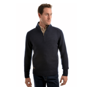 Thomas cook Merino Wool Mens quarter Zip jumper