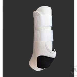 Toprail Equine Protection Boots in White side view