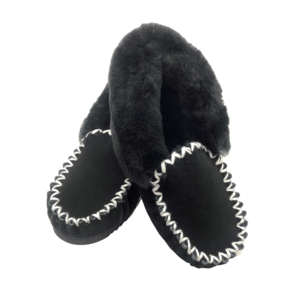 Traditional Style Moccasins Black colour