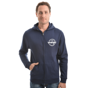 Wrangler mens Zip through hoodie navy
