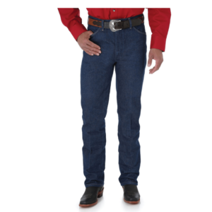 Wrangler Mens Slim Fit Rigid Indigo Jeans