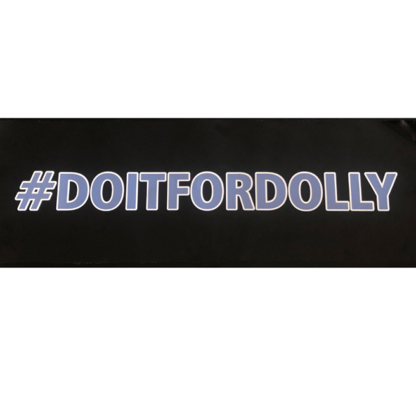 Dolly's Dream Car Decal Sticker #doitfordolly with white outline.
