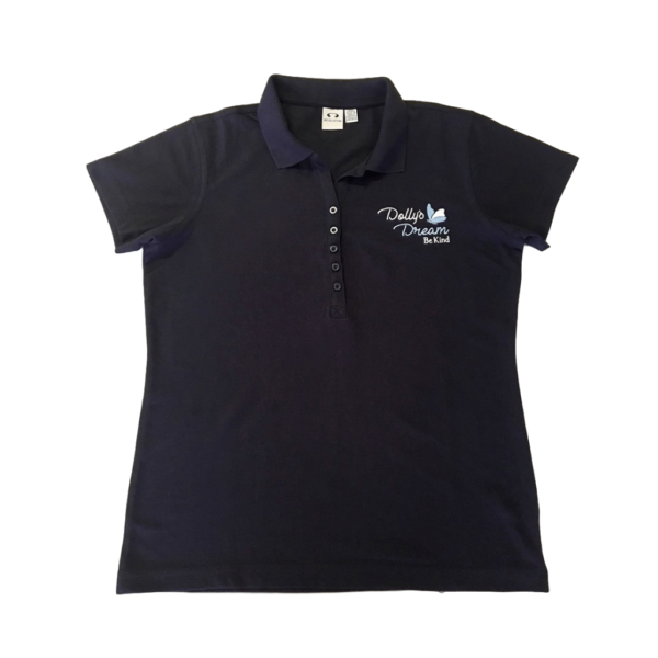 Dollys Dream womens Navy polo with Logo
