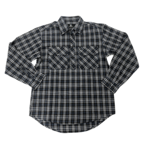 Swanndri mens barn shirt dark moss check front half button