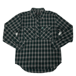 Swanndri mens barn shirt mint check front half button