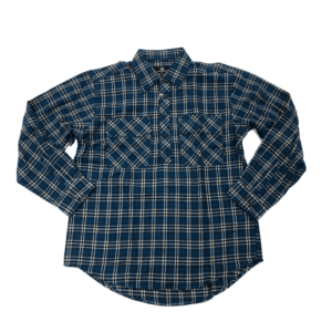 Mens Swanndri Barn Shirt Pacific Blue Colour