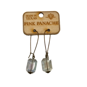 Ab Rectangle On Bronze Kidney Earwires