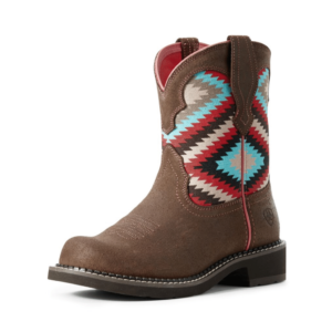 Womens Fataby Heritage Ariat Boots, Crepe Sole Aztec print top