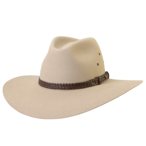 Akubra Riverena wide brimmed hat sand colour