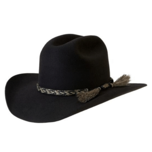 Akubra Rough Rider Hat Black with Horse Hair Hat band