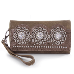 Features Removable wristlet strap for added security. Fully lined with 6x card slots, 1x ID slot, internal zip pocket, 2x note pockets and removable slim wallet. Matching handbag also available. Size: 19cm width x 10.5cm high x 3cm deep Material: 100% PU