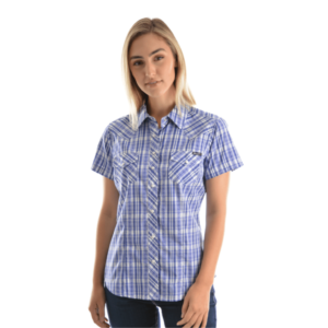 Wrangler_Womens_Sophia_Check_Shirt_Navy_Purple_Front